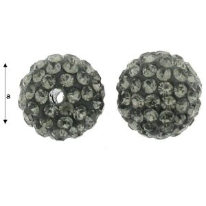 DISCOBALL BEAD BLACK DIAMOND 10 MM
