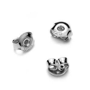 Záražky na naušnice, stříbro 925, BAR 2 4,5 mm