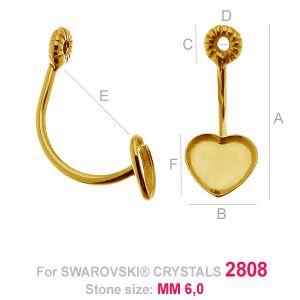 HKSV 2808 6MM Twist earring