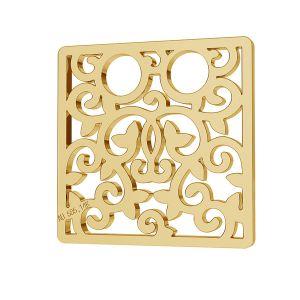 Ctverec přívěsek zlato 14K LKZ-00009 - 0,30 mm