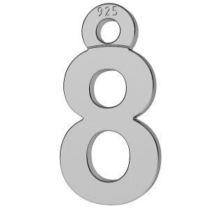Císlice číslo 8 privesek, LK-0713 - 0,50