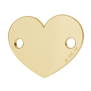Srdce přívěsek zlato 14K LKZ-00462 - 0,30 mm