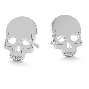 Lebka halloween náušnice LK-1023 - 0,50