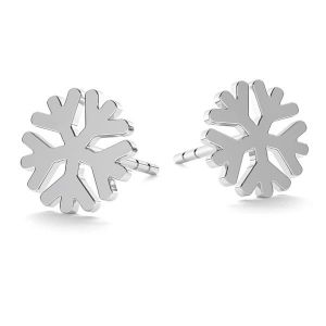 Sněhová vločka náušnice LK-1074 - 0,50