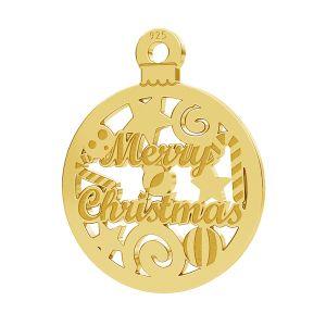 Merry Christmas přívěsek LK-1087 - 0,50