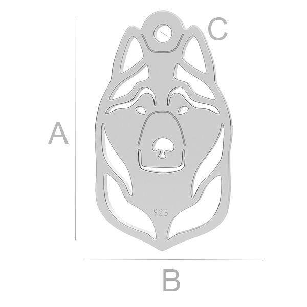 Chraplavý pes přívěsek LK-1101 - 0,50
