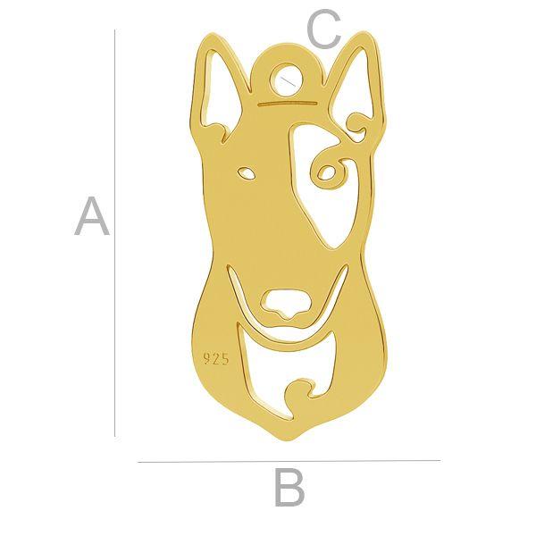 Pitbull pes přívěsek LK-1110 - 0,50
