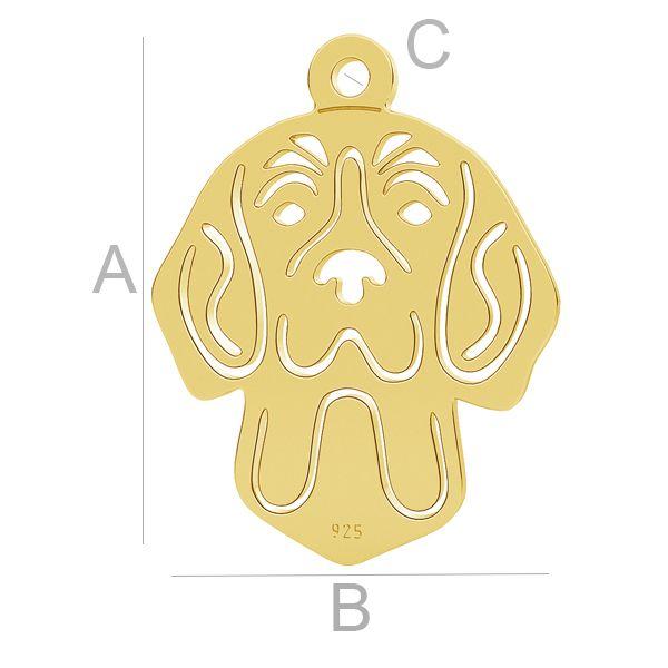 Beagle pes přívěsek LK-1112 - 0,50