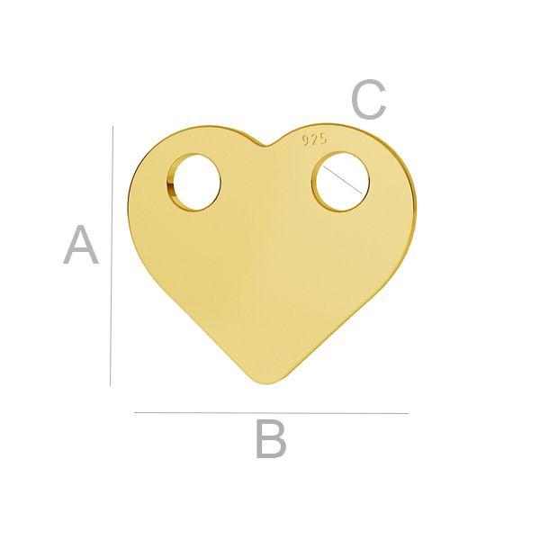 Srdce privesek, LK-1169 - 0,50