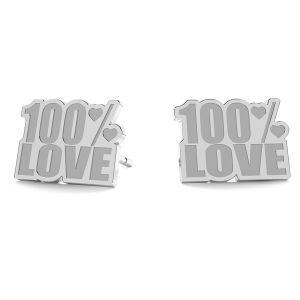 100% Love náušnice LK-1193 - 0,50 - KLS