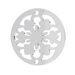 Rozeta privesek, stříbro 925, LK-1259 - 0,50