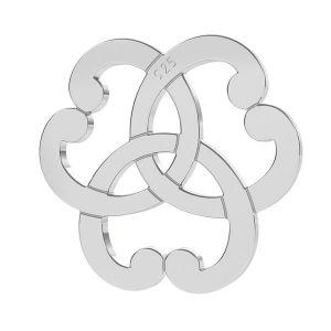 Triquetra srdce rozeta privesek, stříbro 925, LK-1260 - 0,50