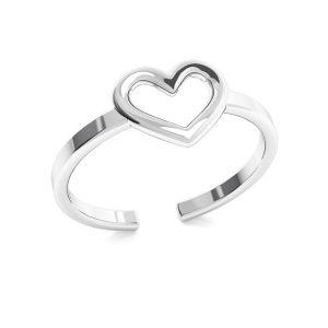 Prsten srdce, stříbro 925, ODL-00317