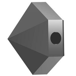 Hexagon Spike Bead, Swarovski Crystals, 5060 MM 5,5 JET HEMATITE
