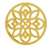 Rozeta privesek, zlato 14K, LKZ-00619 - 0,30
