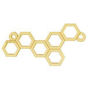Plástev medu privesek, zlato 14K, LKZ-00348 - 0,30