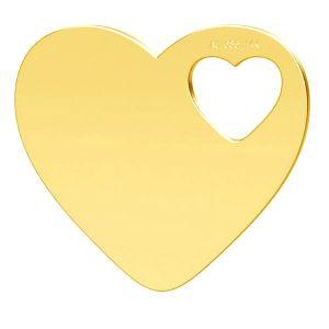 Srdce privesek, zlato 14K, LKZ-01304 - 0,30