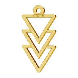 Trojúhelník privesek, zlato 14K, LKZ-00434 - 0,30