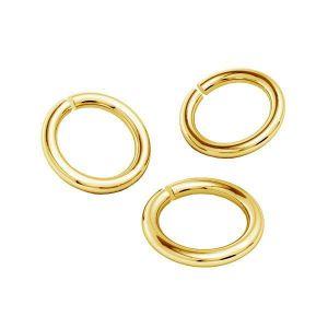 Zlate kroužky spojovací AU 585 14K, KC-0,80x4,25