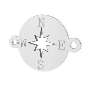 Kompas přívěsek, stříbrno 925, LK-1318 - 0,50