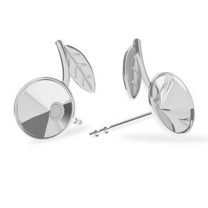 Listy náušnice, sterling silver 925, ODL-00355 KLS (1122 SS 29) L+R