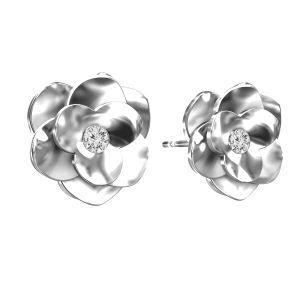 Ruže náušnice ODL-00041 KLS - CRYSTAL