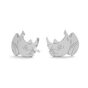 Rhino náušnice, stříbrný 925, LK-0893 KLS - 0,50