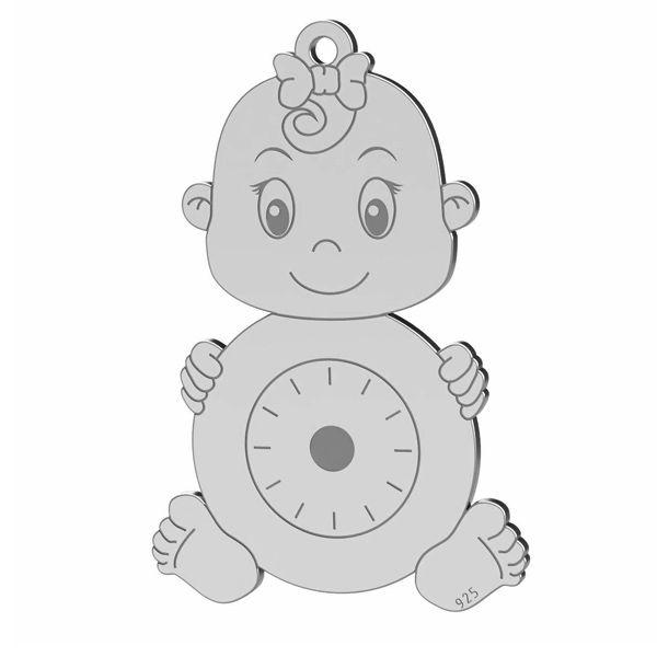 Dívka přívěsek, stříbrno 925, LK-1365 - 0,50