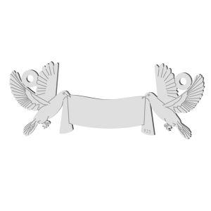 Svatba holub přívěsek, stříbrno 925, LK-1366 - 0,50