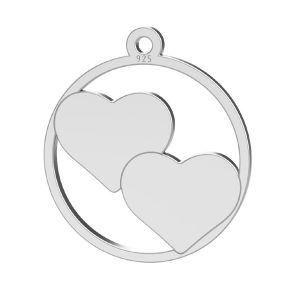 Srdce přívěsek, stříbrno 925, LK-1367 - 0,50