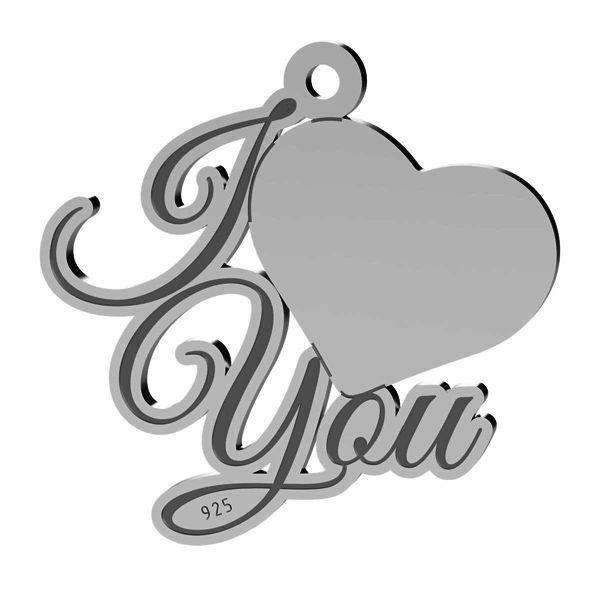 Srdce přívěsek, stříbrno 925, LK-1368 - 0,50