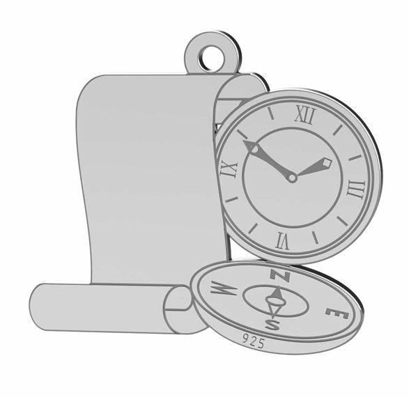 Kompas přívěsek, stříbrno 925, LK-1369 - 0,50