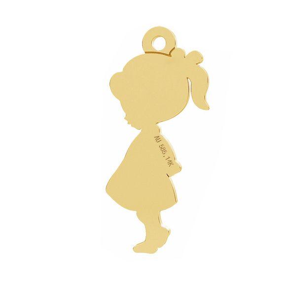 Dívka privesek, zlato 14K, LKZ-01283 - 0,30