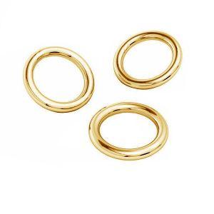 Zlate kroužky spojovací AU 585 14K, KC-0,80x2,15