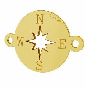 Kompas přívěsek, zlato 14K, LKZ-01318 - 0,30