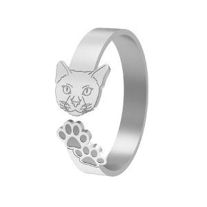 Kocka prsten, stříbrný, LK-1402 - 0,50