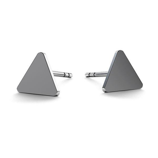 Diamant náušnice, stříbrný 925, LK-0617 KLS - 0,50