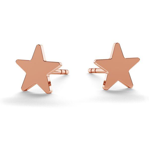 Hvězda náušnice, stříbrný 925, LK-0617 KLS - 0,50