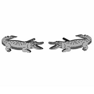 Krokodýl náušnice, stříbrný 925, LK-1388 KLS - 0,50