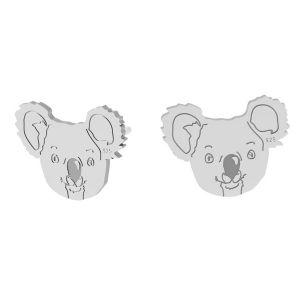 Koala náušnice, stříbrný 925, LK-1398 KLS - 0,50