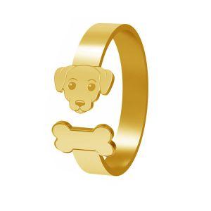 Pes prsten, stříbrný, LK-1403 - 0,50