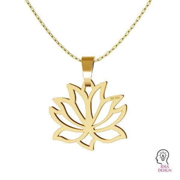 Lotus květ přívěsek zlato 14K LKZ-00771 - 0,30