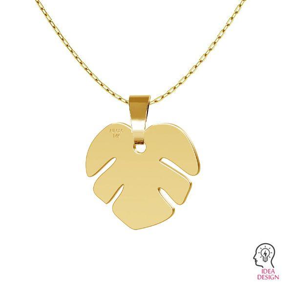 Lotus květ přívěsek zlato 14K LKZ-00809 - 0,30