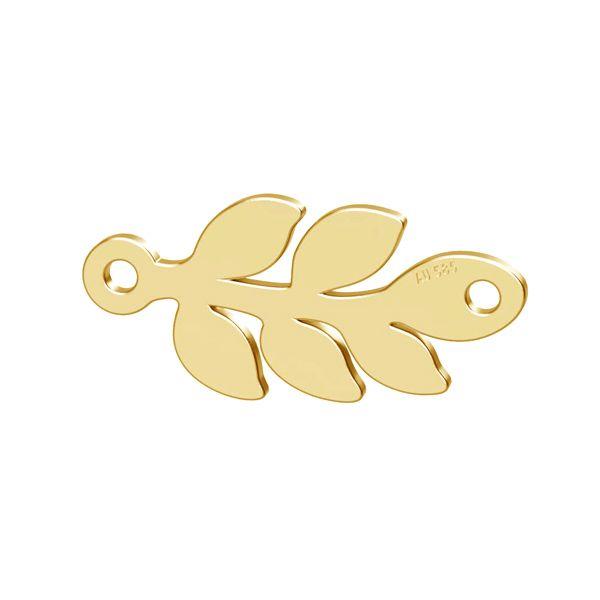 Monstera list přívěsek zlato 14K LKZ-00809 - 0,30