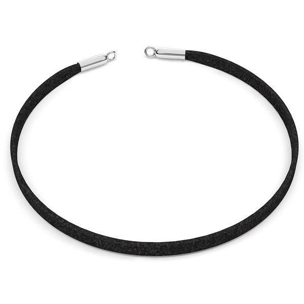 Choker alcantara náhrdelník S-CHAIN 25 - 36 cm