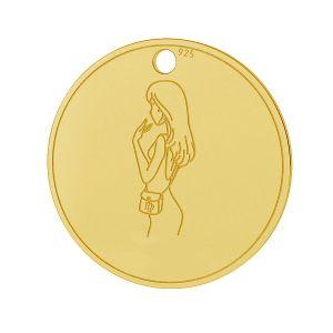 Panna přívěšek zvěrokruh, stříbrný 925, LK-1452 - 0,50