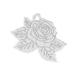 Ruže přívěsek, stříbrno 925, LK-1476 - 0,50