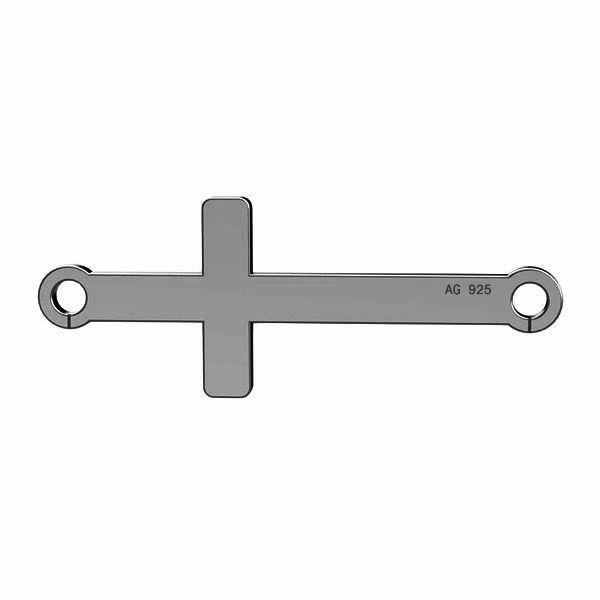 Horizontální kříž přívěsek stříbrný, LKM-2022