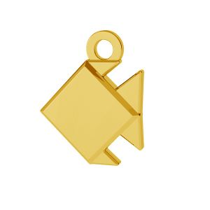 Ryba origami přívěšek stříbrný, ODL-00434