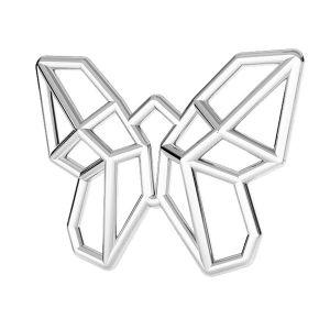 Origami srdce přívěšek stříbrný, ODL-00459
